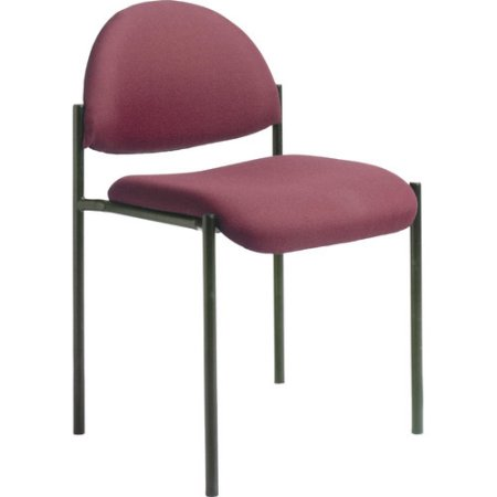 boss office products contemporary armless fabric stackable guest chair
