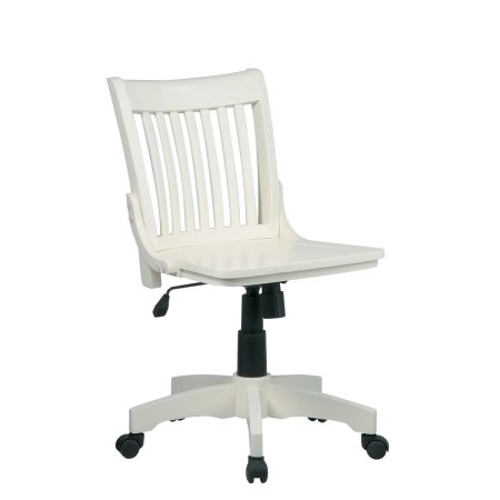 Wooden Office Chairs With Casters – White Wooden Desk Chairs